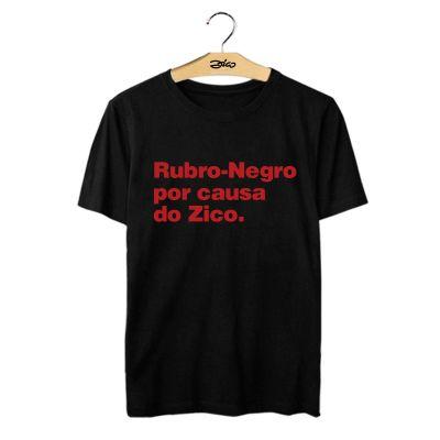 CAMISA RUBRO-NEGRO POR CAUSA DO ZICO